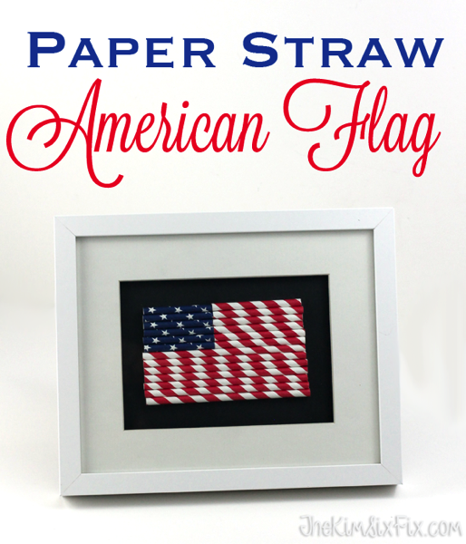 How to make American Flag Art from Straws