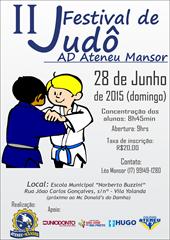 II Festival de Judô - Cartaz