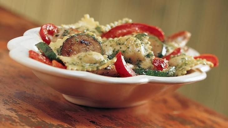 Pesto Ravioli with Chicken Recipe | Yummly