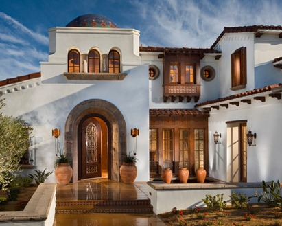 Traditional Entry Design Wood Door Spanish Revival Andalusia Architecture