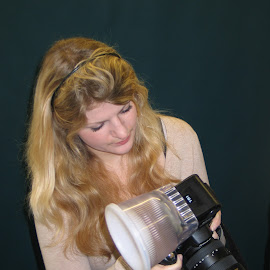 Photographer by Sara Rackow - People Professional People ( girl, lighting, blond, photographer, portrait, photographers, taking a photo, photographing, photographers taking a photo, snapping a shot )