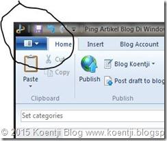 konfigurasi windows live writer