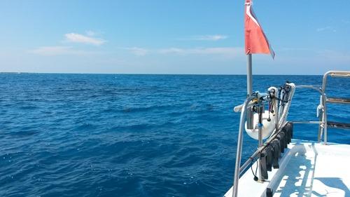 ハワイ島の青空と海