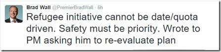 Premier Wall tweet