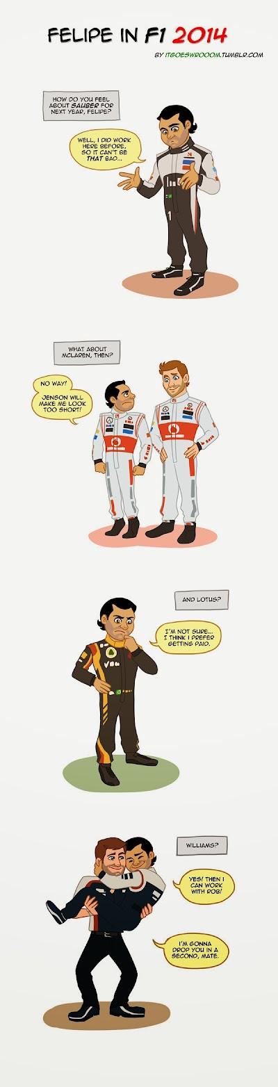 Фелипе Масса размышляет о будущем в 2014 - комикс it goes wrooom