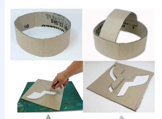 casco de gladiador carton