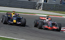 David Coulthard (GBR/ Red Bull Racing) and Heikki Kovalainen (FIN/ McLaren Mercedes)