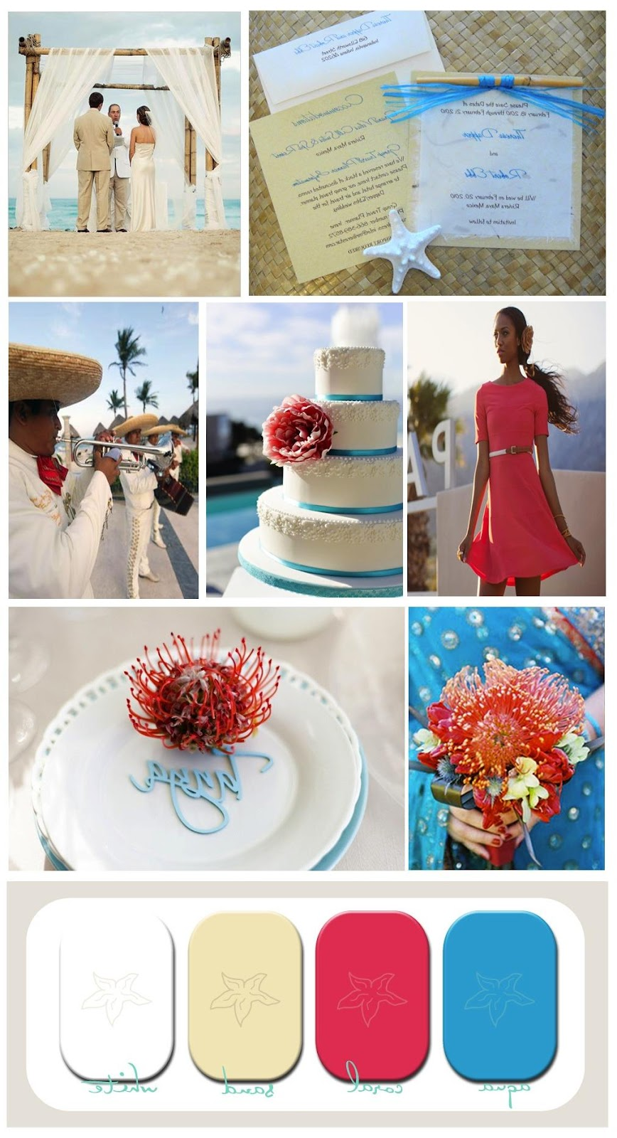 This wedding inspiration board