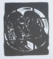 Dej BAO. 034 B . Un Chemin dans la Pierre . 1977 . Lithographie . 74 x 32 cm