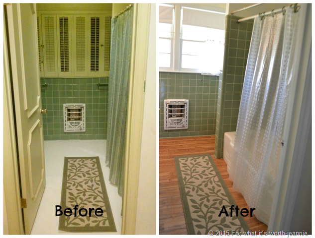 before after bathroom update