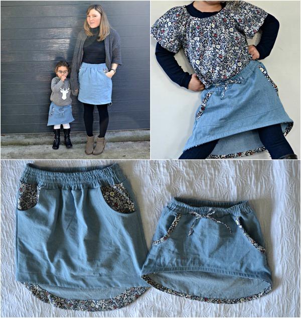 Orbit Skirt Collage