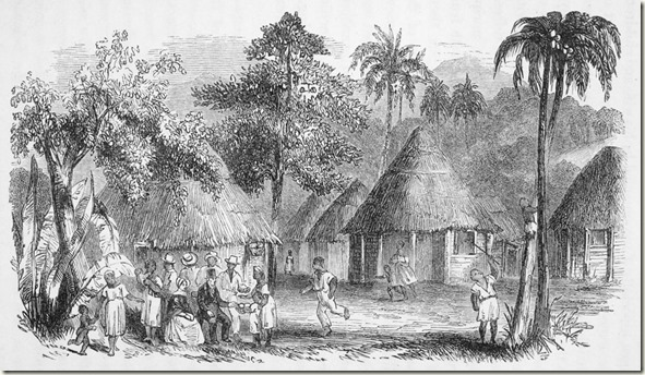 Plantation village in Jamaica, 1843