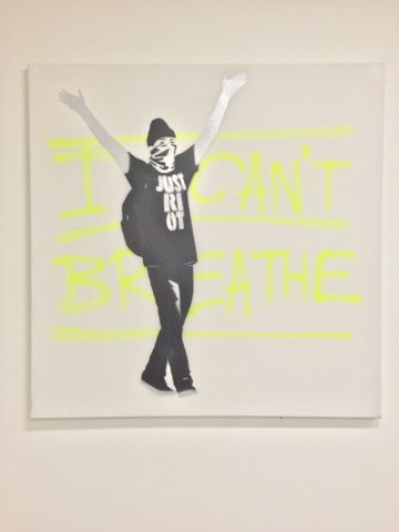 'I can't breathe' Saatchi Gallery