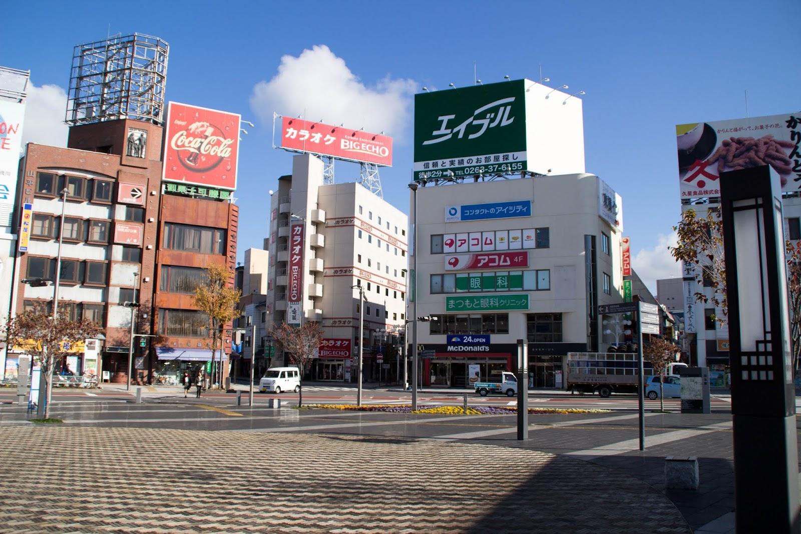 松本駅前(お城口)