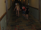 Hannah, Logan Vojtko and Bryan going to the water park in Kalahari in OH 02192012a