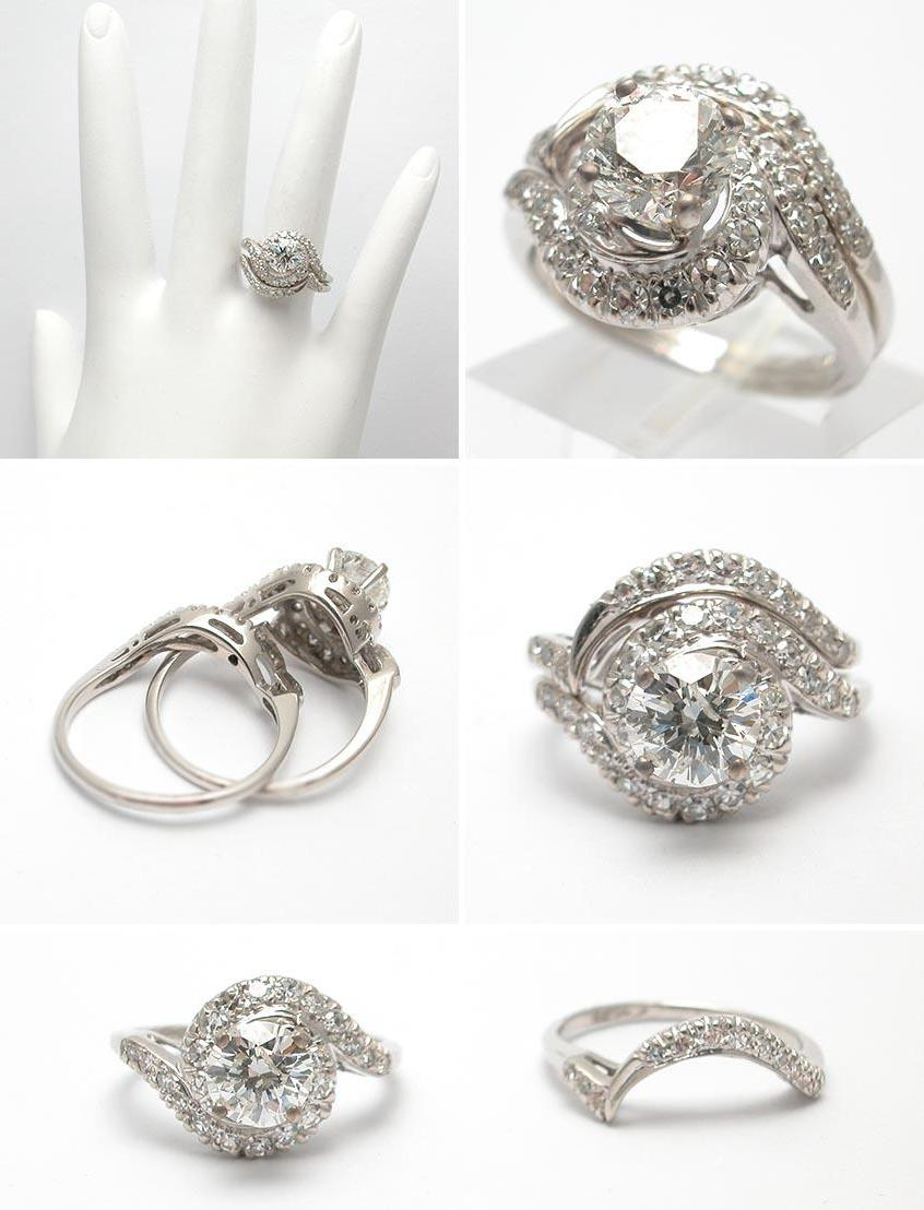 Wedding Ring Set Solid 18K