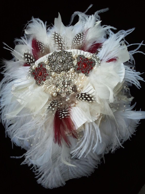 Feather Brooch Bridal