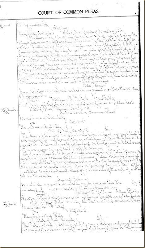 Henry Dawson file partition Mary Irwin 15
