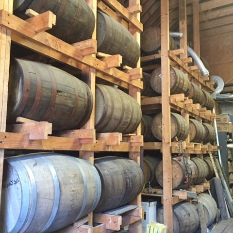 Whiskey aging in used barrels