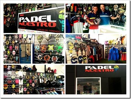 Nace la primera tienda de pádel en Huelva con pista para jugar con las palas de test.