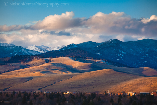 Missoula Valley In March. Photo by Nelson Kenter. All Rights Reserved. Prints available at www.kenterphotography.com