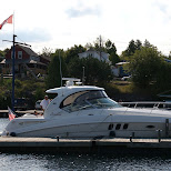 rich Americans in the harbor in Tobermory, Ontario, Canada