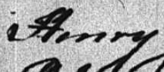 Shippet of a name that was indexed as Henry or Kerry