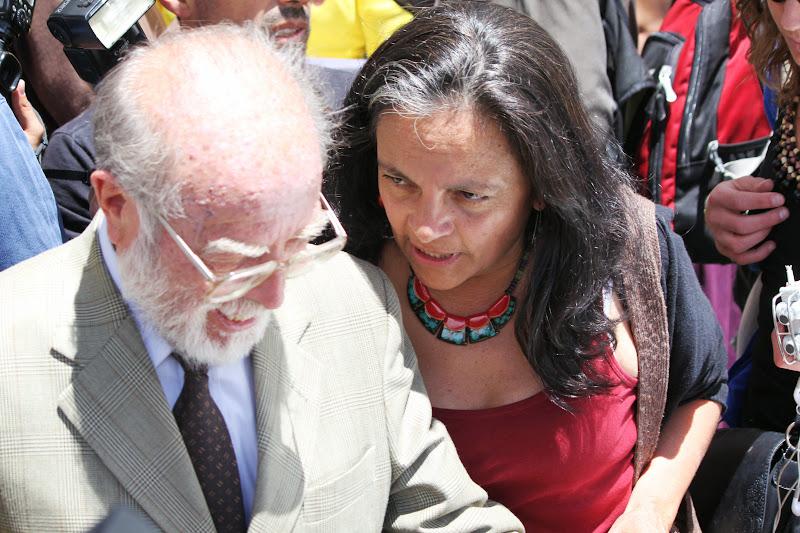 Dr. Trujillo consults with Accion Ecologica President Esperanza Martinez