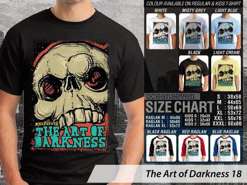 KAOS keren skull tengkorak The Art of Darkness 18 distro ocean seven