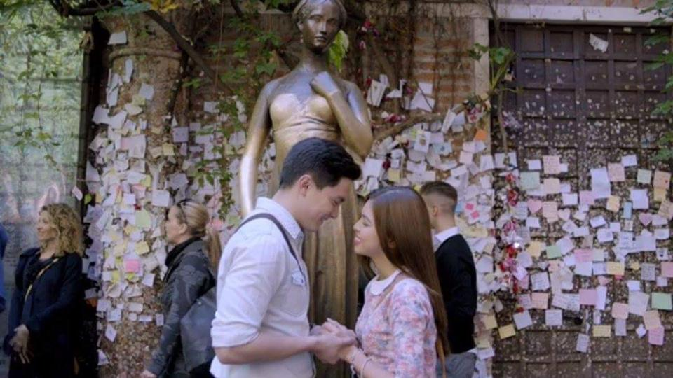 Image of Maine together with Alden Richards