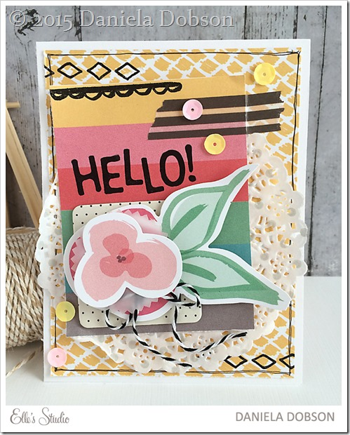 Hello card by Daniela Dobson