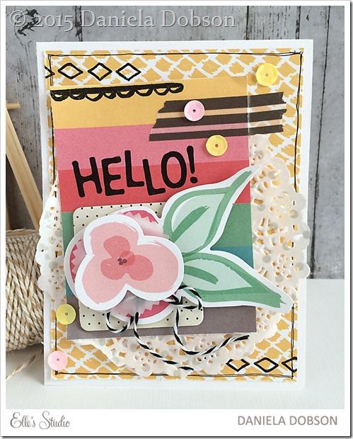 Hello card by Daniela Dobson