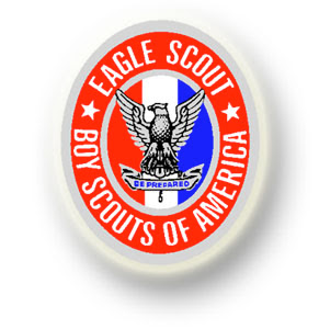 Description: Picture of Eagle Scout patch. Action: Select (click) picture to view it enlarged.