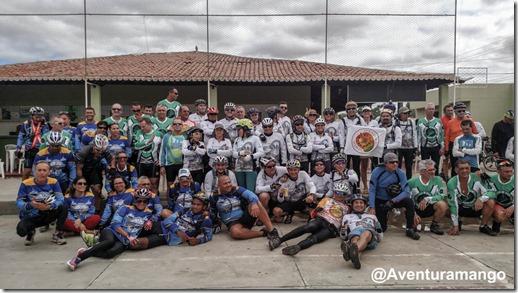 Grupos de ciclistas em Caicó