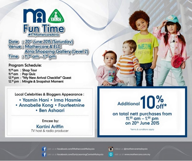 Fun time mothercare #FTMothercareAtria