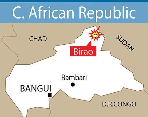 CAR: CPJP rebels kill 4 soldiers, hold Birao garrison town near border with Chad and Sudan Photo courtesy AFP Posted to CONGO WATCH Thursday, November 25, 2010: http://congowatch.blogspot.com/2010/11/car-cpjp-rebels-kill-4-soldiers-hold.html