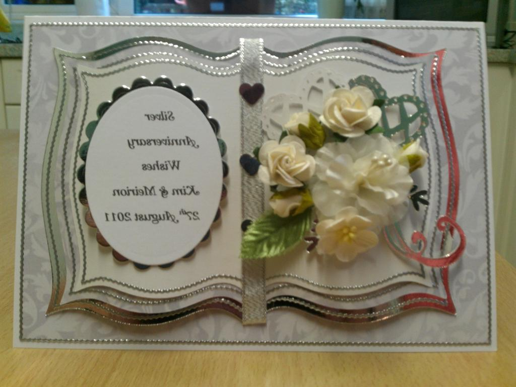 2nd Silver Wedding Card