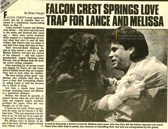 1988-05-_Star Magazine_Falcon Crest Springs Love Trap For Lance And Melissa ©mb