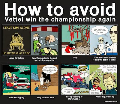 Как избежать очередной победы Феттеля в чемпионате - комикс Sunday Jorge