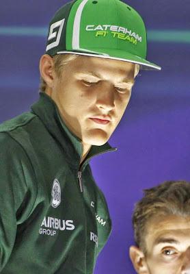 Маркус Эрикссон на пресс-конференции в четверг на Гран-при Бахрейна 2014