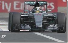 Hamilton nelle prove libere del gran premio d'Italia 2015
