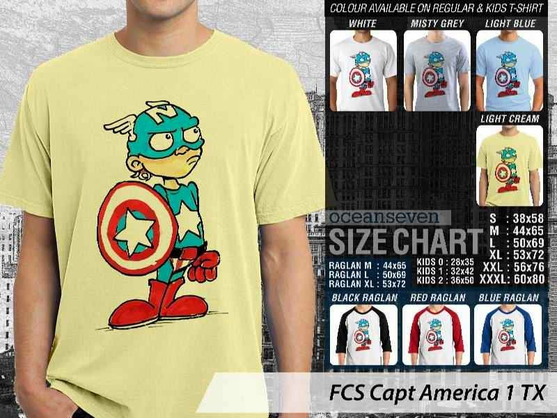 Kaos Superhero Lucu Capt America 1 Captain America distro ocean seven