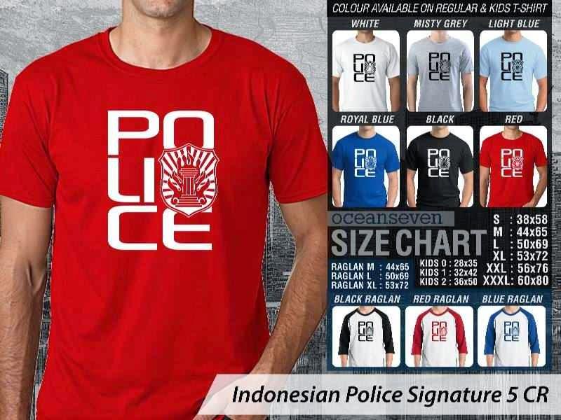 KAOS Militer Indonesian Police Signature 5 | KAOS Police distro ocean seven