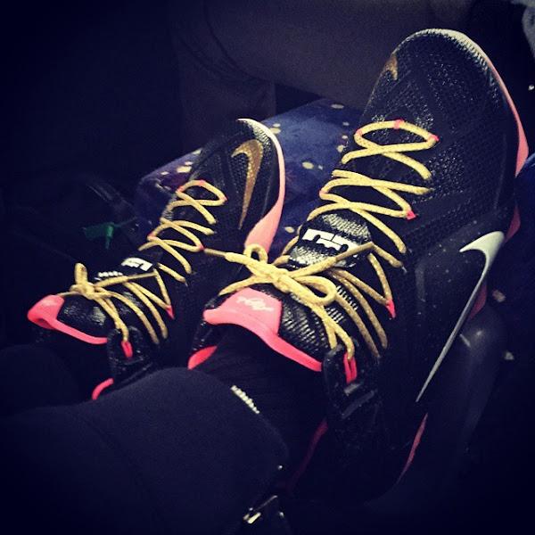 ICYMI LeBron James Owns a Pretty Sick Black amp Pink LeBron 12 PE