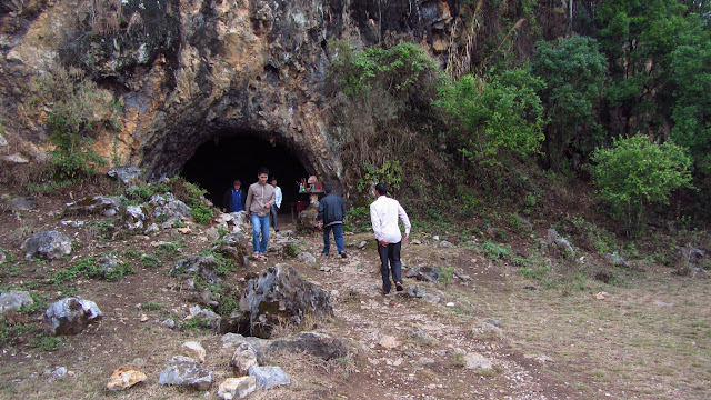 Locals spent much of the war in caves like this.