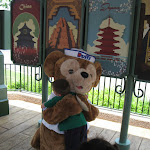 Bryan hugging Duffy the Bear in Epcot in Disney 06072011