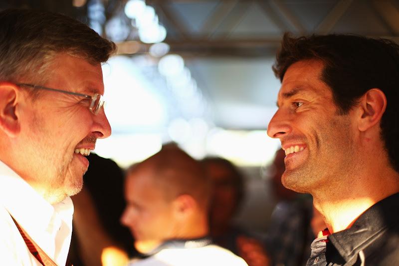 Росс Браун и Марк Уэббер лицом к лицу на Гран-при Италии 2013