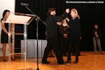 Entrega del Premio Trujamán de la Guitarra a José María Gallardo del Rey, Mª Irene Beneyto, Presidenta del Palau de la Música de Valencia