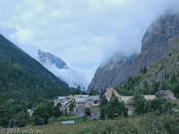 Auf dem Weg zum Col de Sarenne (1999 m) und Alpe d'Huez. Evtl. der Ort Clavans le Haut?