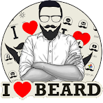 I Love Beard Theme Icon